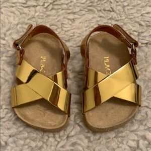 Children's Place - Gold Sandals with Glitter Sole